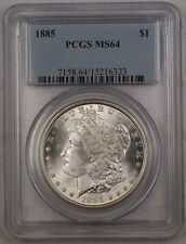 1885 US Morgan Silver Dollar $1 Coin PCGS MS-64 Reverse Toned (Better) BR3 G
