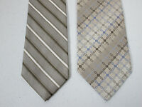Silk Tie Lot Of 2 Necktie Van Heusen Studio And Pierre Cardin New 3.75 x 58 Inch