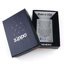ZIPPO Feuerzeug MADE IN THE USA Satin Chrome Männeroberkörper Erotik OVP NEU