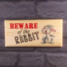 Diffidare del coniglio-Placca / Firmare / Regalo-Animali domestici HUTCH GABBIA Bunny 340