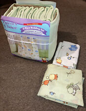 Parents Choice Baby Nursery Set Bumper Pad Fitted Sheet & Receiving Blanket.