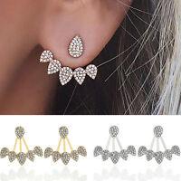 Elegant Women Crystal Charm Gold Silver Earrings Ear Stud Fashion Jewelry Gifts