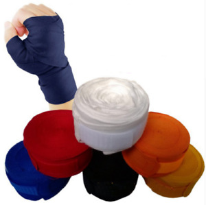 Boxing Cotton Strap 5m Length One pair Stretch Bandage Hand Protection Wraps
