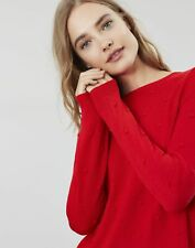 Joules Womens Marlene Bobble Texture Jumper - RED
