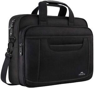 """Matein Men's Black 14"""" Laptop Briefcase Office Business Travel Shoulder Bag"""