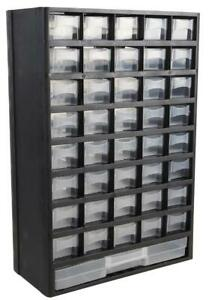 Duratool 40+1 Drawer Small Parts Storage Cabinet - 444mm x 310mm x 138mm