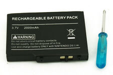 2000mAh Rechargeable Battery pack +Screwdriver for Nintendo NDS Lite NDSL Li-Ion