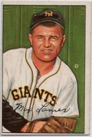 1952 Bowman #110 Max Lanier EX-EXMINT Marked New York Giants FREE SHIPPING