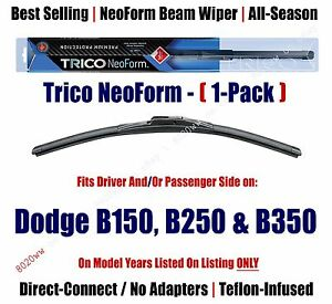 Super Premium NeoForm Wiper Blade Qty 1 fit 1981-1994 Dodge B150/B250/B350 16160