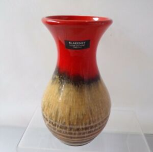 BLAKENEY Volcanic Style Art Vase Stoke on Trent Pottery