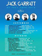 """JACK GARRATT """"US FALL TOUR 2016"""" CONCERT POSTER- Indie Pop, Alt R&B, Electronica"""