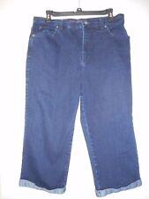 Gloria Vanderbilt Size 10 Denim Amanda Capri Jeans Dark Blue