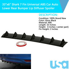"33""x6"" Shark 7 Fin Universal ABS Car Auto Lower Rear Bumper Lip Diffuser Spoiler"