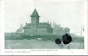 Nashua New Hampshire Postcard 1905 Nashua Junction Train Station Depot MT