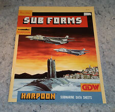 Sub Forms Supplement/Module For Harpoon By:GDW.......(C6B5)