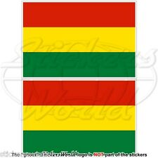 """BOLIVIA Bolivian Civil Flag 100mm (4"""") Vinyl Bumper Stickers Decals x2"""