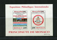 Monaco 2002  #2274  Philatelic Exhibition stamps IMPERF sheet   MNH G693