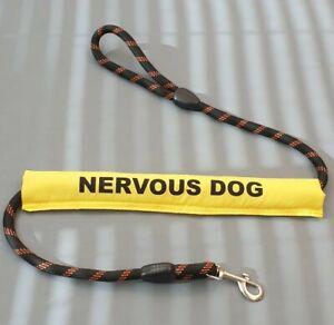 Dog Lead Sleeve yellow  nervous dog