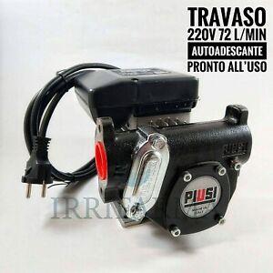 Pompa travaso gasolio 220v Elettrica Autoadescante Piusi Panther 72 l/min AC
