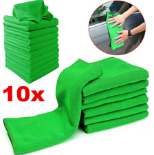 10 Pcs Green Micro Fiber Auto Car Detailing Cleaning Soft Cloth Towel Washing