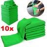 10 Pcs Green Micro Fiber Auto Car Detailing Cleaning Soft Cloth Towel Washing