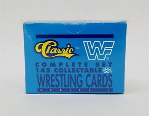 Classic Games WWF Wrestling 145 Cards RARE SEALED Complete Set 1990 Series 1