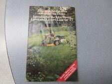 John Deere Lawn & Garden Brochure