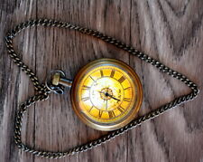 Vintage antique maritime brass watch marco polo collectible pocket watch marine