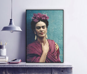 Frida Kahlo with Picasso Earrings, Coyoacán, 1939 - Vintage Photo Print