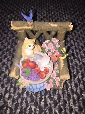 """San Francisco Music Box Company Cats in Chair """"My Favorite Things"""""""