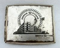 Vintage Old Bridgestone Tyre Ad Brass Cigarette Collect Case Box Made In Japan