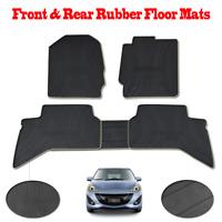 Front &Rear Rubber Floor Mats Black Fit For Mazda BT50 2011-2017 Carpet Set of 5
