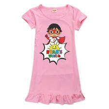 Kids Girl Ryans World Dress Pleated Party Princess Tutu Skirt Pyjamas Nightdress