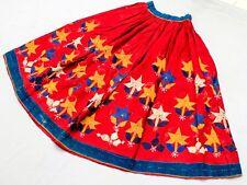 Kuchi India Boho Tribal Belly Dance Ethnic Gypsy Embroidery Banjara Rabari Skirt