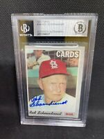 1970 Topps Card #346 Red Schoendienst (Cardinals) Beckett Slabbed