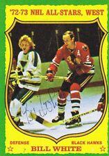 Bill White 1973 Topps Autograph #180 Blackhawks