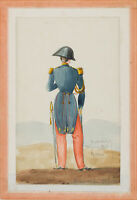 Französischer Offizier in Uniform, Pariser Juniaufstand 1848, Aquarell