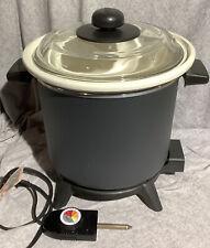 Dazey Chef's Pot Slow Cooker Deep Fryer Dtc 1 White Insert. Missing Fry Basket