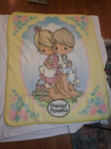 Precious Moments the Northwest Company  Luxury Plush Baby Throw Blanket Boy Girl
