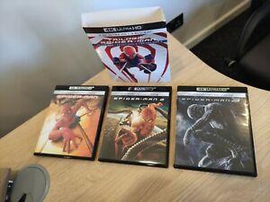 Spider-Man (1,2,3) Original Trilogy - Tobey Maguire 4K UHD + Blu Ray Ultra HD 4K