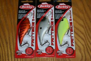 Fishing Lure Lot of 3 Berkley Frittside 5 Biggun' Crankbait Fishing Lures NIB