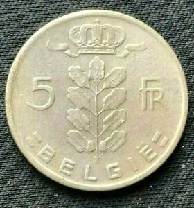 1964 Belgium 5 Francs Coin XF   Copper nickel World Coin     #K1378