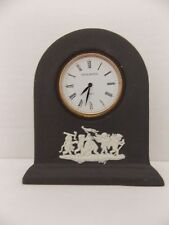 "Wedgwood Black Jasperware 3 1/4"" clock made in England"