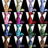 Men Colorful Floral Flowers Tie Handkerchief Business Pocket Square Necktie Set