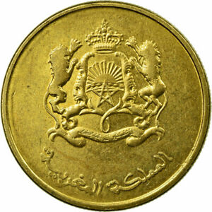 [#674107] Coin, Morocco, 20 Santimat, 2015, Paris, EF(40-45), Brass plated steel