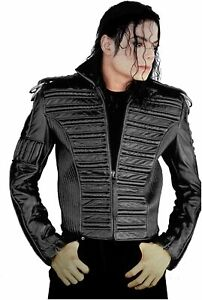 Michael Jackson Man in the Mirror Jacket Black Deluxe Halloween Adult Costume