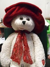 "($50) 22"" PLUSH TYPE WHITE/RED ANIMAL PLAYS,'YOU KNOW HOW MUCH I'VE LOVED YOU"""