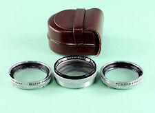 Orig. Rolleiflex Rolleinar 2,  Bay I (1) - in orig. leather case -for 6x6 camera