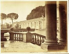 French academy, Rome, Italy. Large 1870s albumen photograph