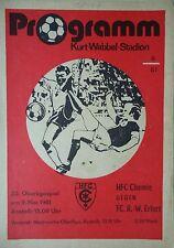 Programm 1980/81 HFC Chemie - RW Erfurt